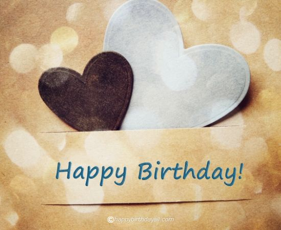 happy birthday black heart