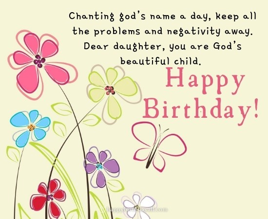 Religious Birthday Wishes for Daughter