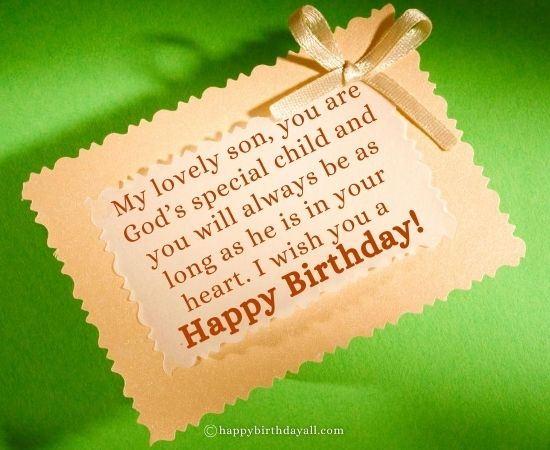 Religious Birthday Wishes Quotes for Son