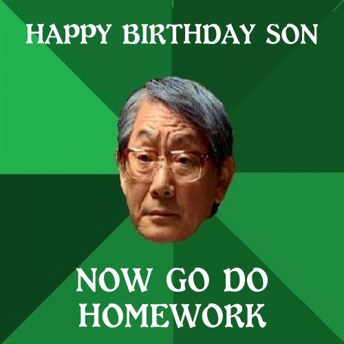 happy birthday meme to son