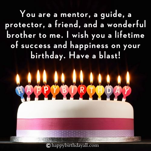 Birthday Quotes for Brother from Another Mother