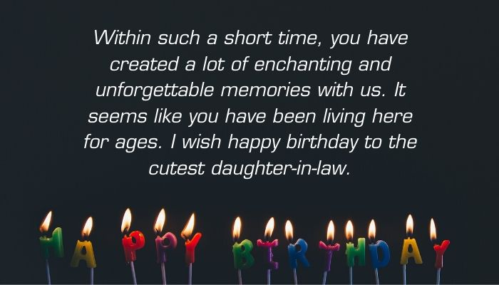 Emotional Happy Birthday Messages for Daughter-in-Law