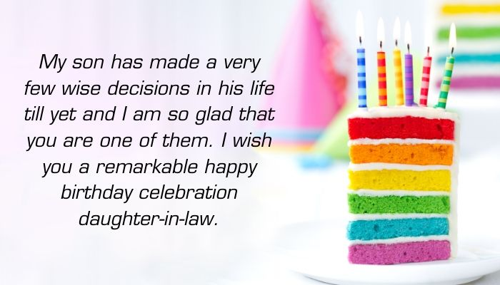 Happy Birthday Wishes for Daughter-in-Law for Facebook
