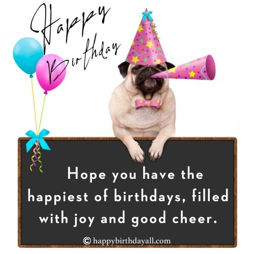 birthday greeting for a dog