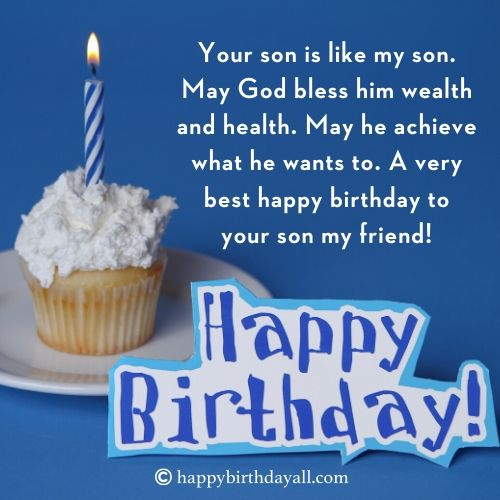 Birthday Wishes for Friend's Son