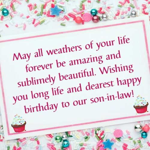 Happy Birthday Quotes for Son-in-law