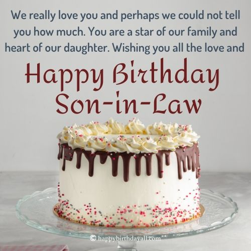 Happy Birthday Messages for Son-in-law