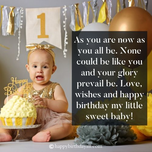 happy first birthday wishes for child