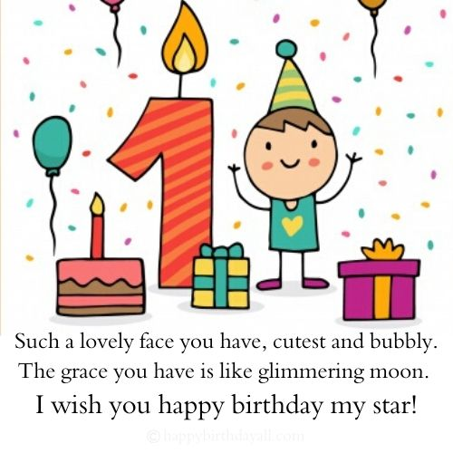 Happy 1st Birthday Messages for Girl