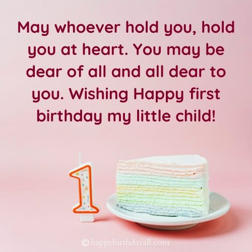 Happy 1st Birthday Messages for Boy