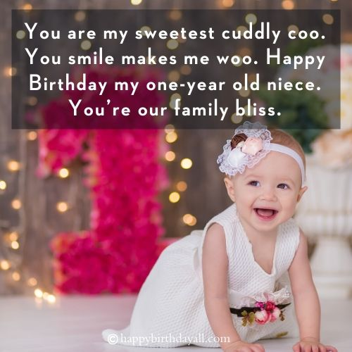 Happy 1st Birthday Wishes for Girl