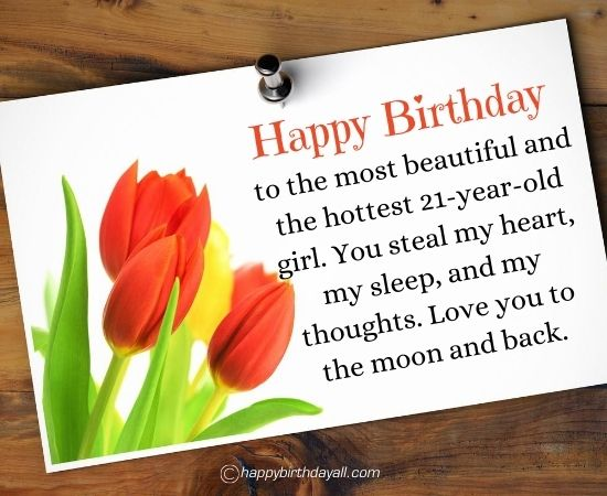 Happy 21st Birthday Wished for Girlfriend