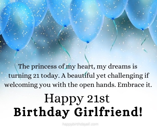 Romantic 21st Birthday Messages for Her