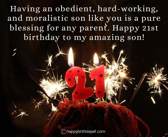 Happy 21st Birthday Wishes for Son