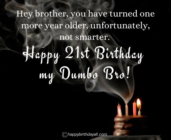 Happy 21st Birthday Wishes for Brother