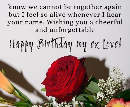 Emotional Happy Birthday Messages for Ex Boyfriend