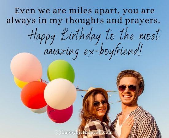 Emotional Happy Birthday Wishes for Ex-Boyfriend