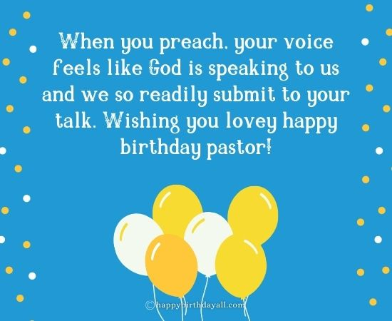 Happy Birthday Messages for Pastor