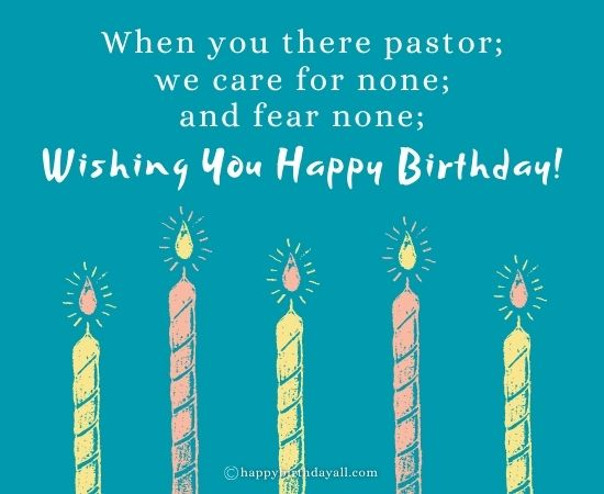 Birthday Poems for Pastor