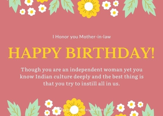 Happy birthday mother-in-law wishes