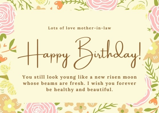 inspirational Birthday Messages for Mother in law