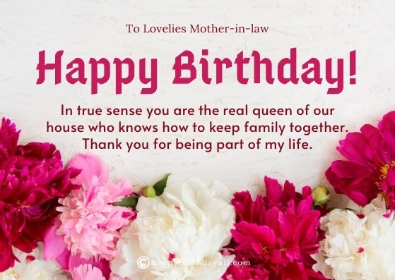 Happy Birthday Messages for Mother in law