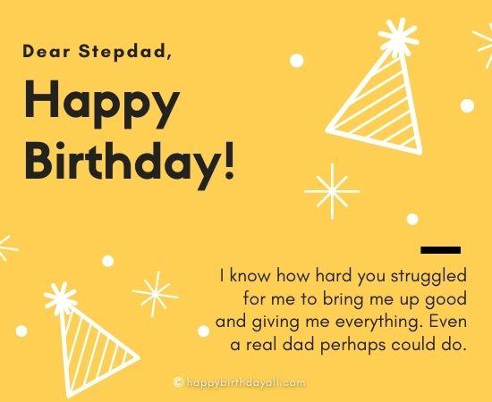 Birthday Wishes for Stepdad