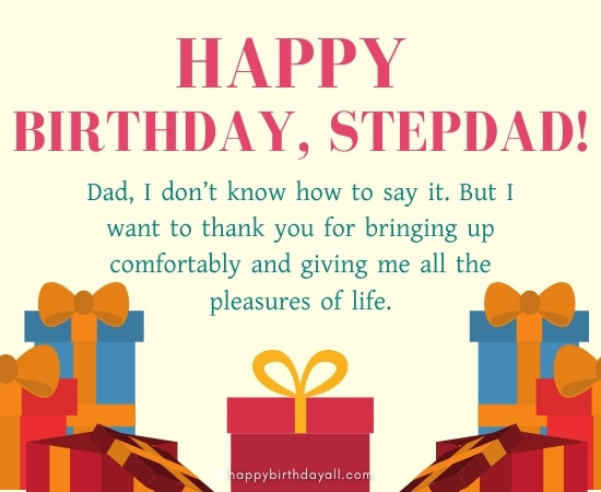 Happy Birthday Messages for Stepdad