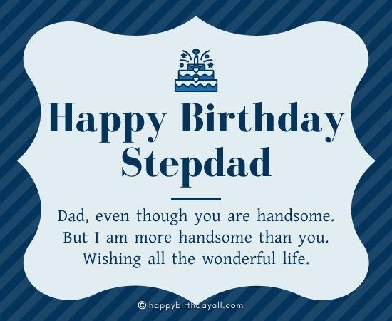 Happy Birthday Wishes for Stepdad