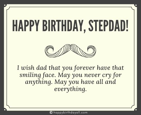 Birthday Wishes for Stepdfather