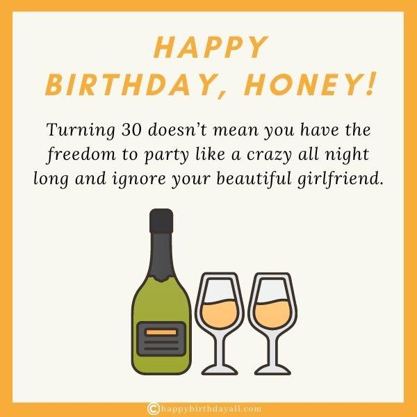 Romantic Birthday Wishes for 30 Year Old Boyfriend