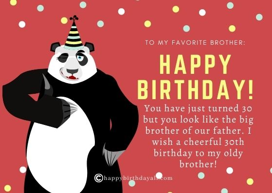 Happy 30th Birthday Wishes for Brother