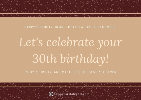 Heart-Touching Birthday Wishes for 30 Year Old friend
