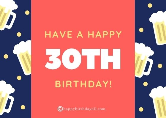 Funny Happy 30th Birthday Wishes with Images
