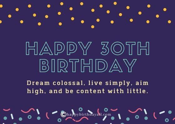 Inspirational Happy 30th Birthday Wishes