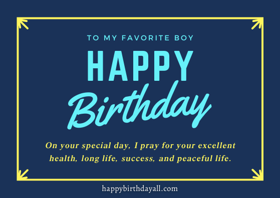 a blessing for son on happy birthday