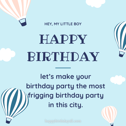 a cute birthday wish for little boy