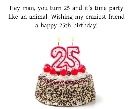 Cute Happy 25th Birthday Messages | Best Birthday Messages for 25 Year Old