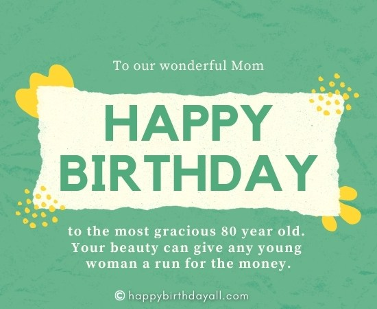 Cute Happy 80th Birthday Messages