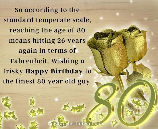 Birthday Wishes for 80 Year Old