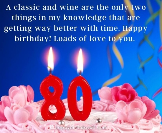 Funny Birthday Wishes for 80 Year old