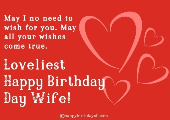 Happy Birthday Messages to Wife