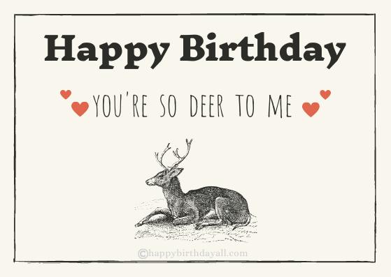 Happy birthday to my deerest wife