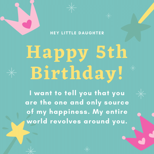 Adorable Birthday Messages for 5 Years Old   Happy 5th Birthday Messages