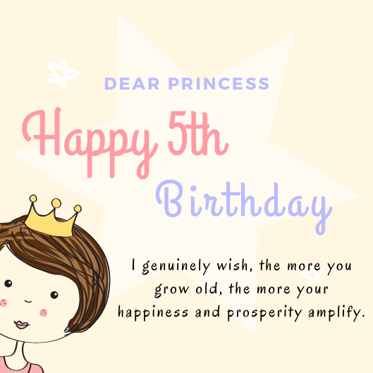 Happy 5th Birthday Quotes with Images