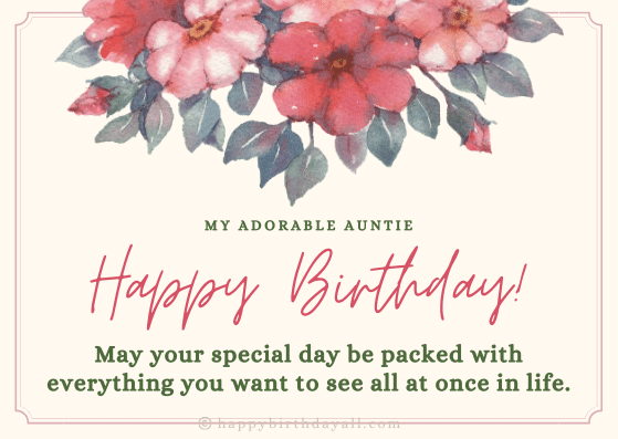 Heart Touching Happy Birthday Quotes for Aunt