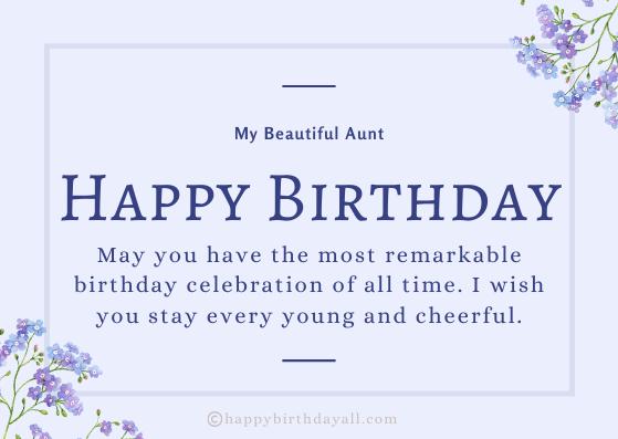 Sweet Happy Birthday Wishes for Aunt | Happy Birthday Auntie Greetings