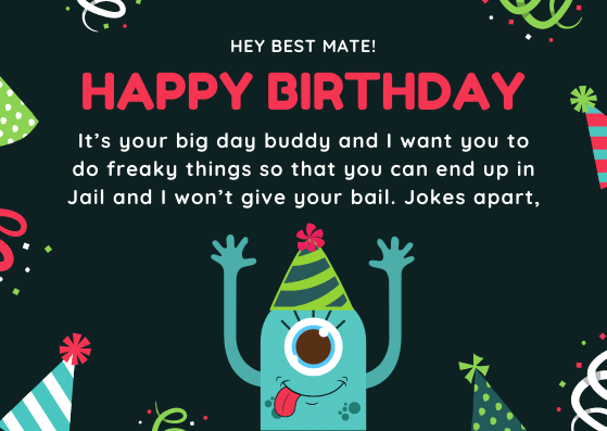 Funny Birthday Wishes for Classmate/School Friend