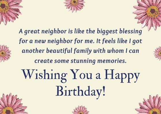 Best Happy Birthday Wishes for Neighbor with Images