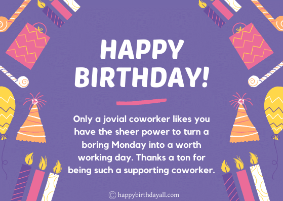 Great Happy Birthday Wishes for Coworkers | Best Birthday Messages for Colleagues